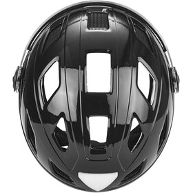 ABUS Hyban+ Fietshelm, black, clear visor